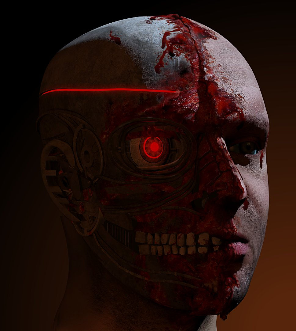 3D model of man head - realistic
